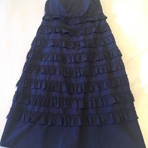 GAP fully lined Navy Blue Ruffle Strapless